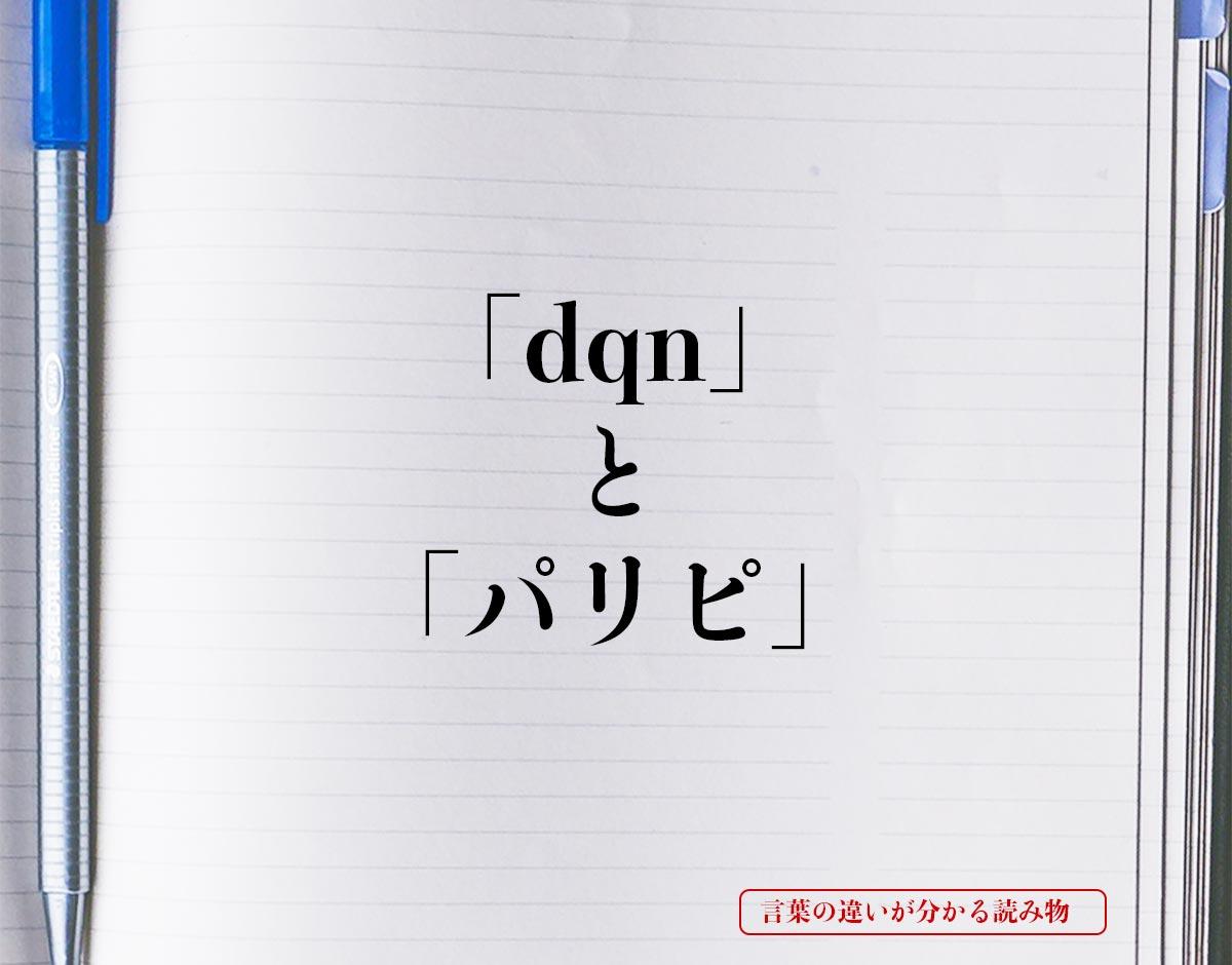 「dqn」と「パリピ」の違い