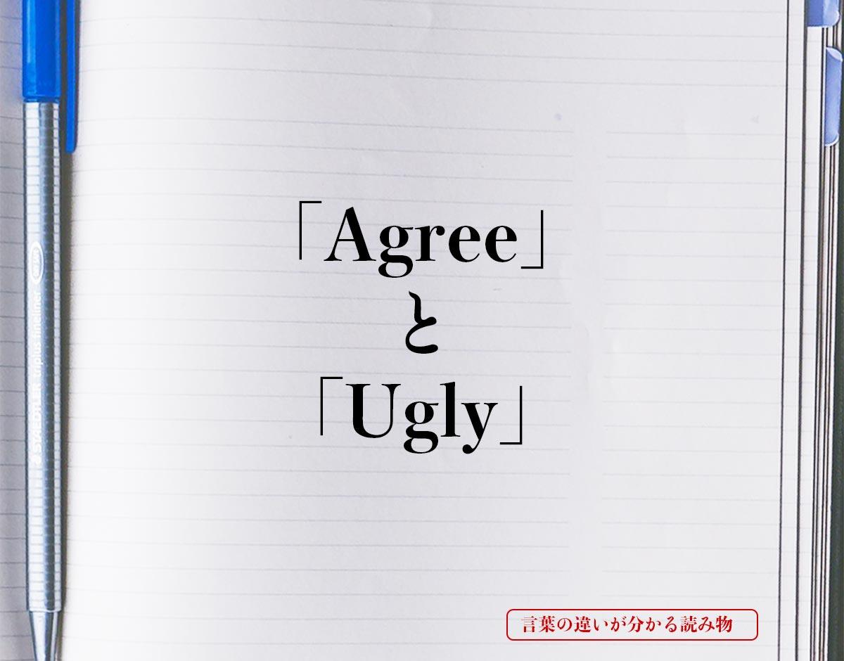 「Agree」と「Ugly」の違い